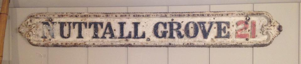 Cast Iron Street Sign
