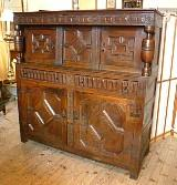 Antique Charles II Oak Court Cupboard