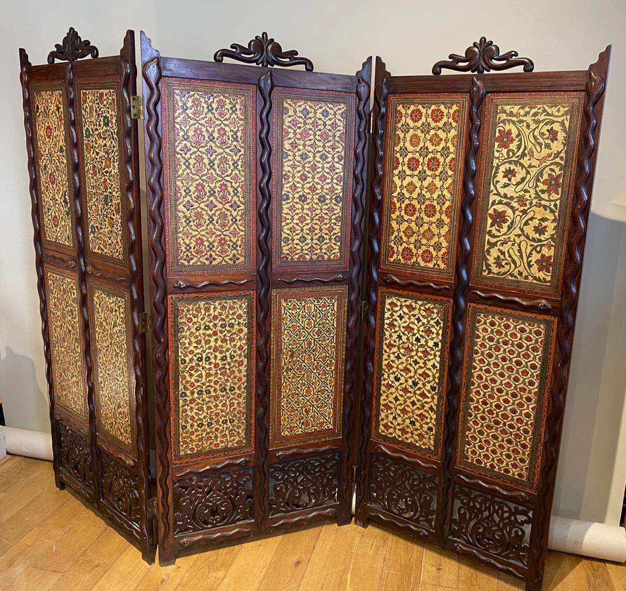 Anglo-Indian Folding Screen