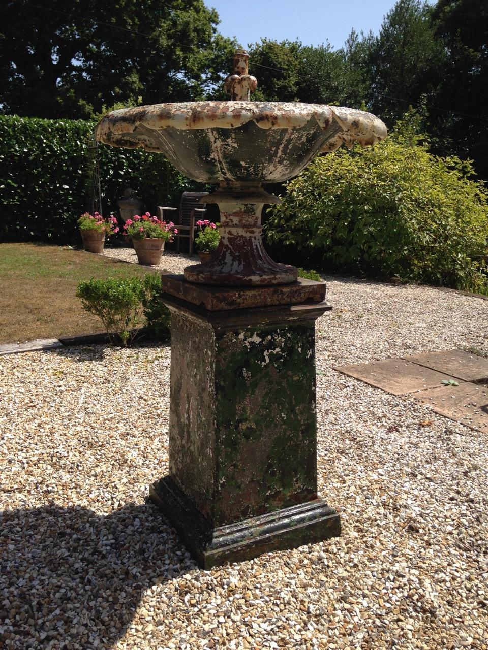 Antique Cast Iron Fountain