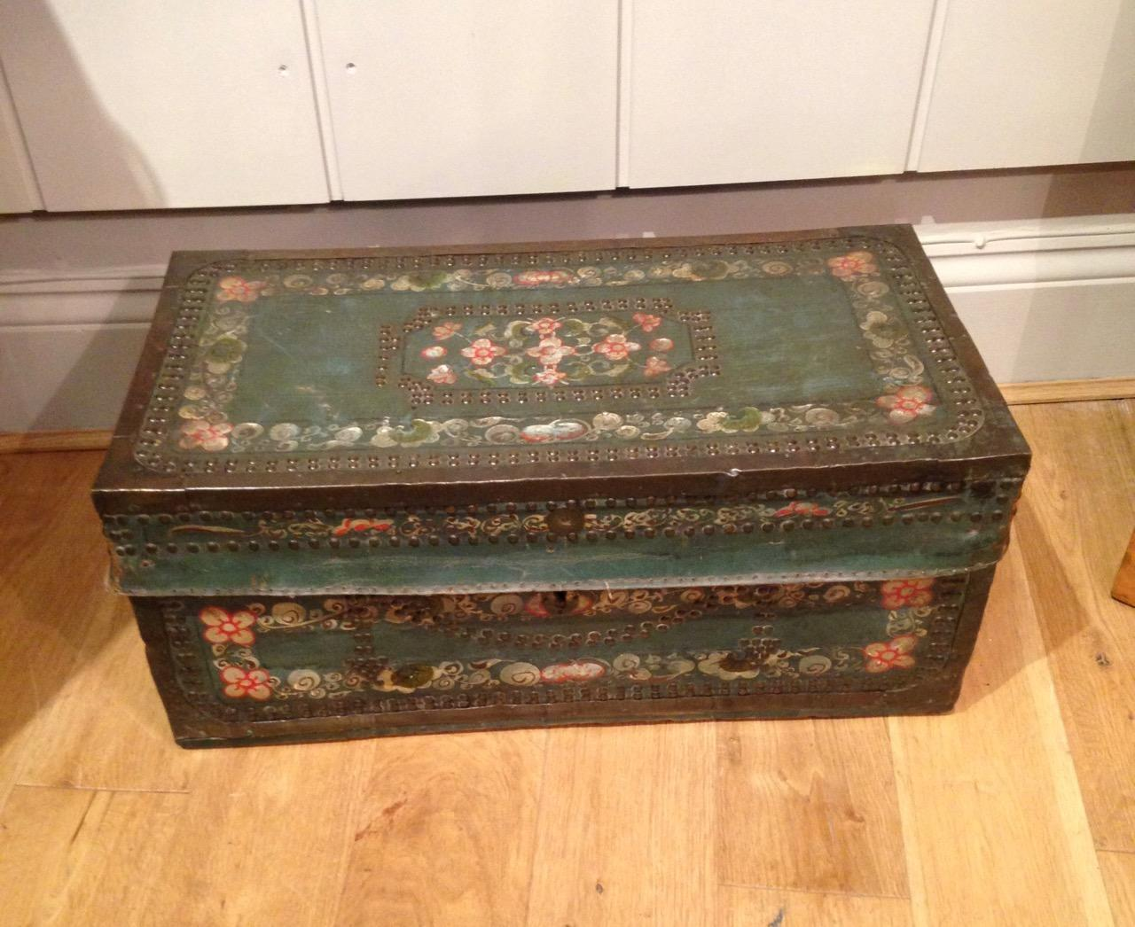 Chinese Export Painted Trunk
