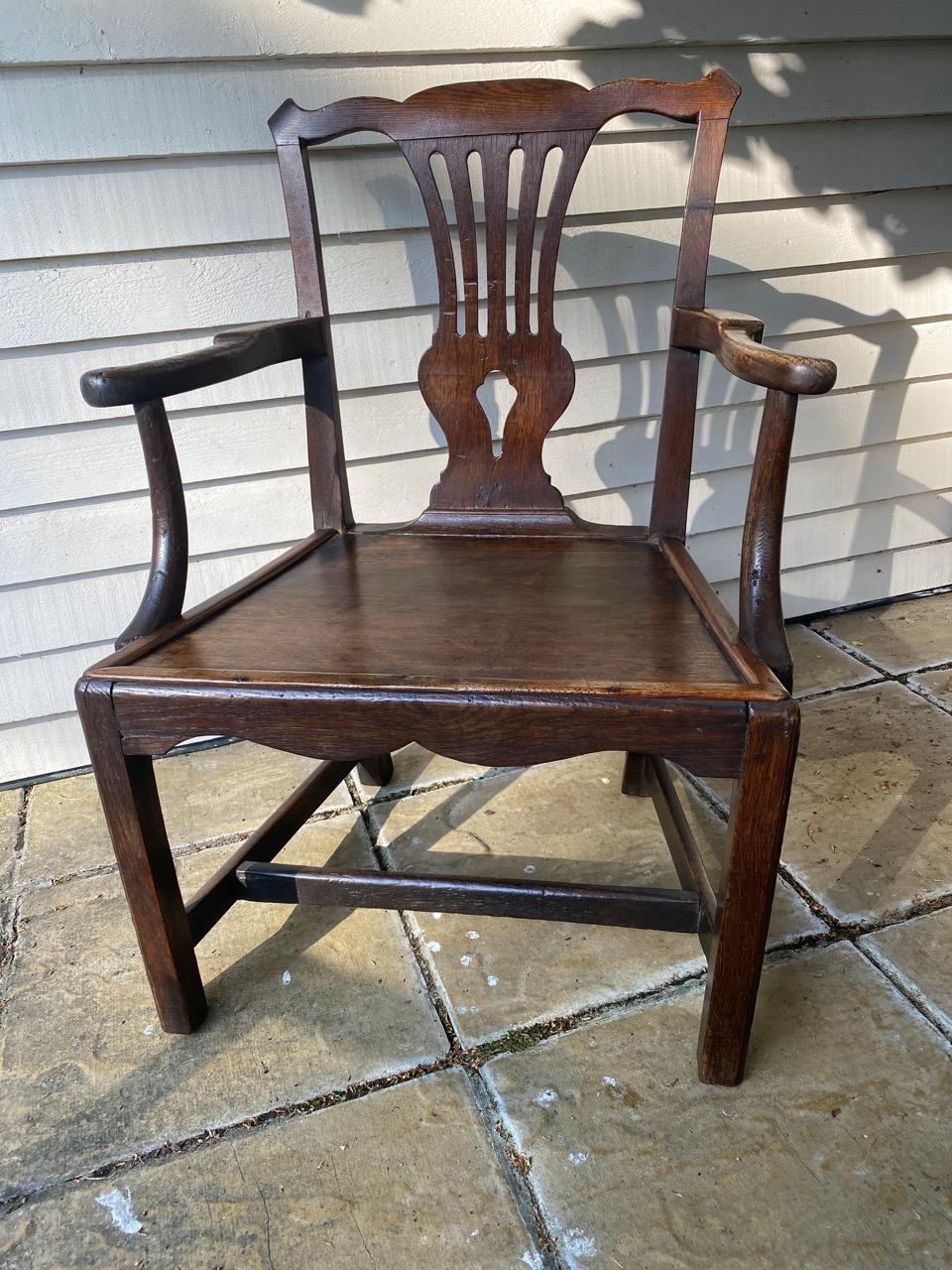 Country Chippendale Arm Chair