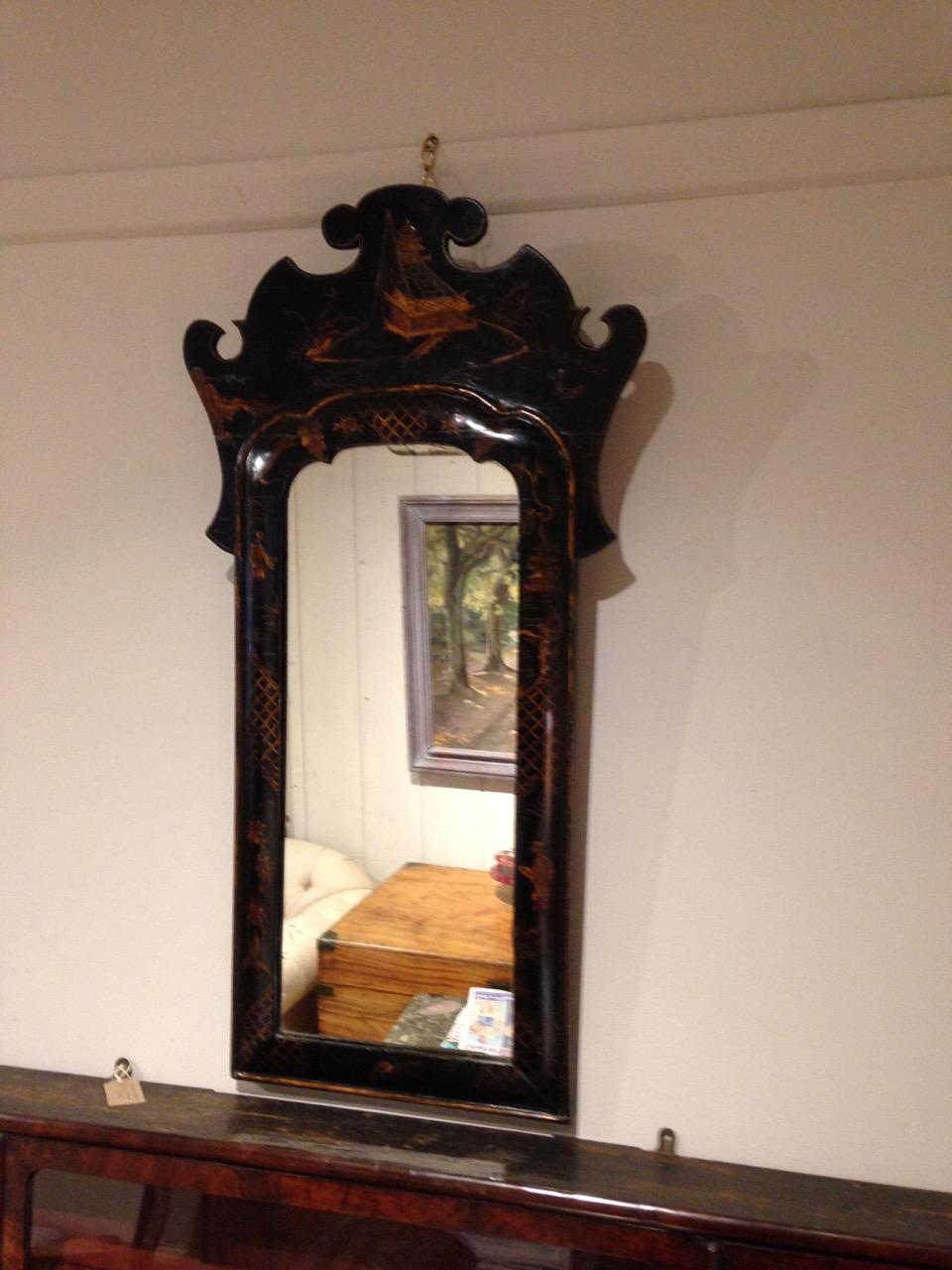 George II Style Chinoiserie Mirror