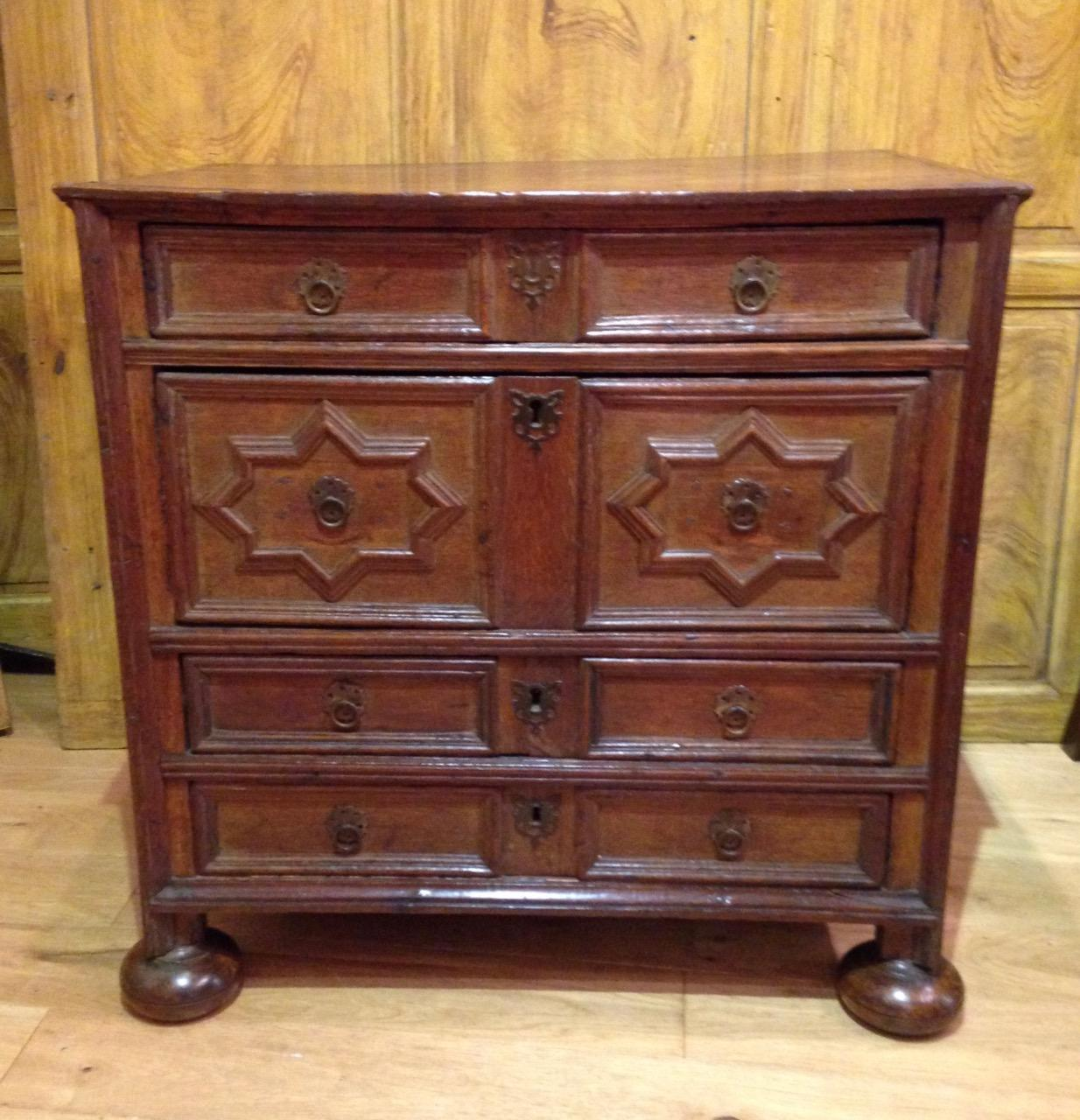 Moulded Oak Chest of Drawers