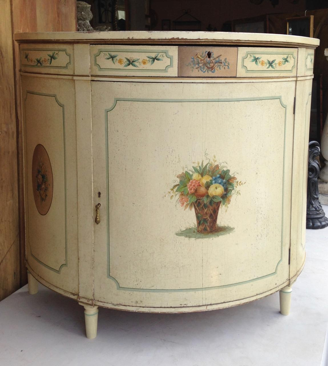 Painted Commode Cabinet