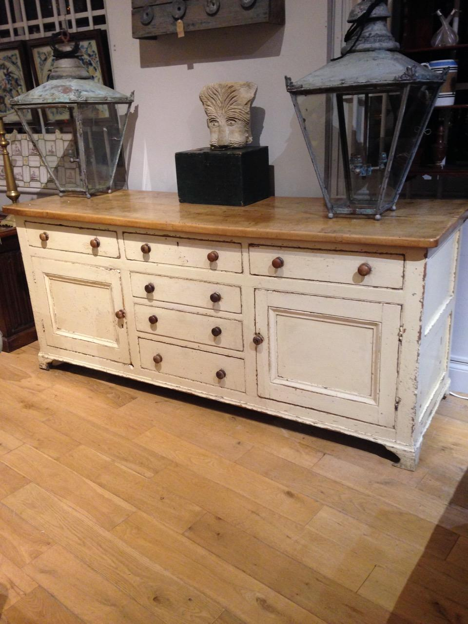 Painted Pine Lincolnshire Dresser Base