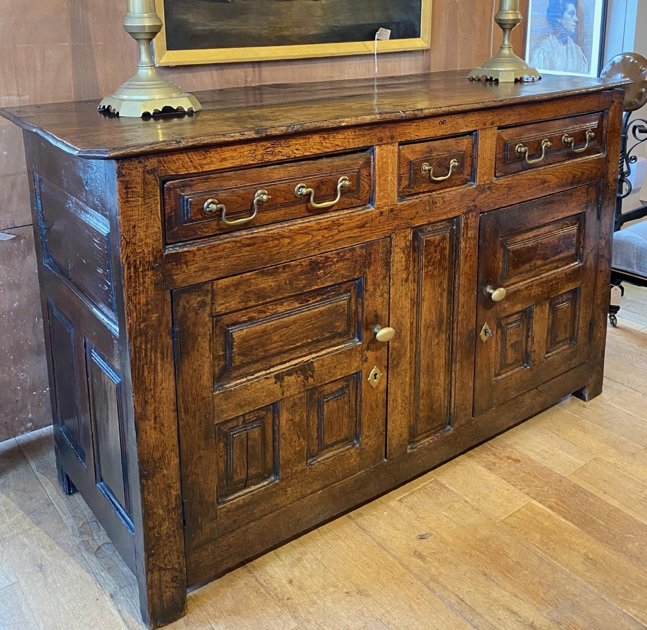 Panelled Oak Dresser Base